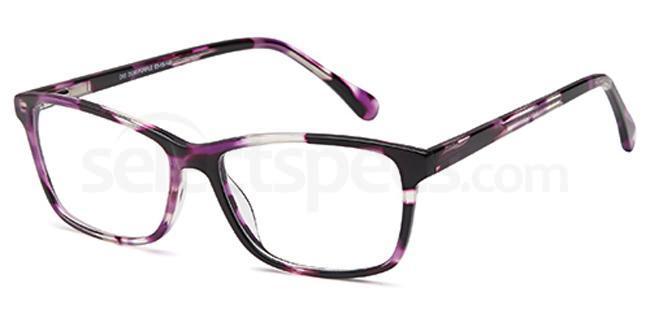 Demi Purple D85 Glasses, Brooklyn