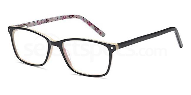 Black/Horn D86 Glasses, Brooklyn