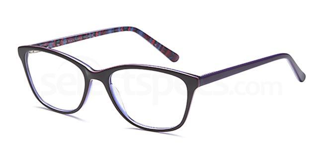 Black/Purple D88 Glasses, Brooklyn