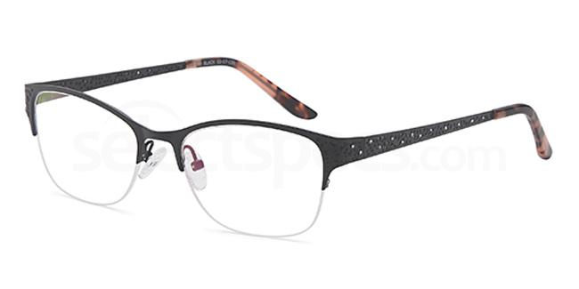 Black D98 Glasses, Brooklyn