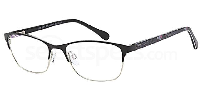 Matt Black/Silver D100 Glasses, Brooklyn