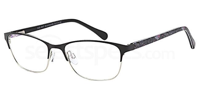 Matt Black/Silver D100 Glasses, Brooklyn