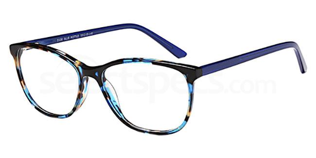 Blue Mottle D106 Glasses, Brooklyn