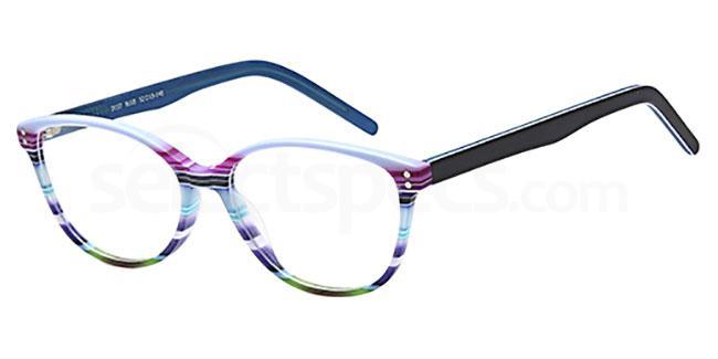 Blue D107 Glasses, Brooklyn