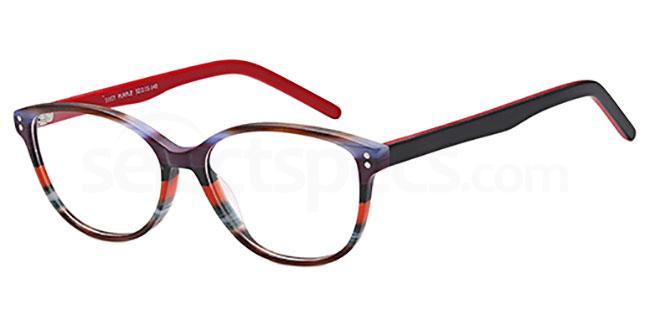 Purple/Green D107 Glasses, Brooklyn