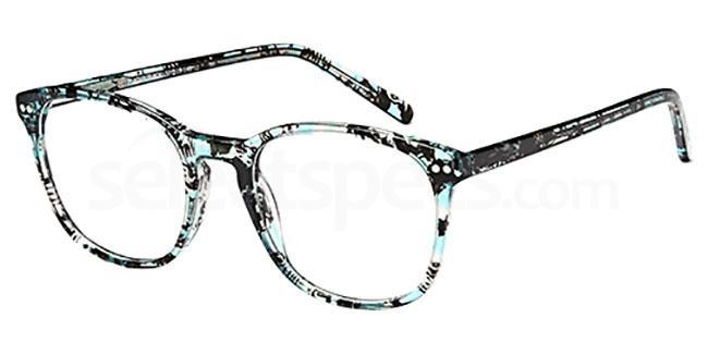 Aqua/Black D110 Glasses, Brooklyn