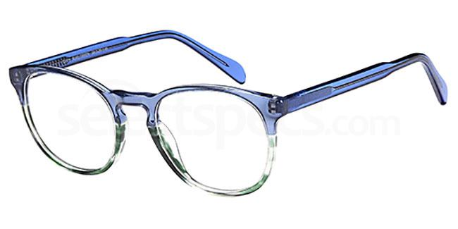Blue/Green D111 Glasses, Brooklyn