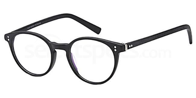 Black D114 Glasses, Brooklyn