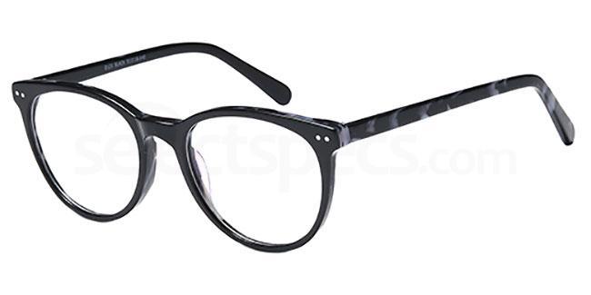 Black D121 Glasses, Brooklyn