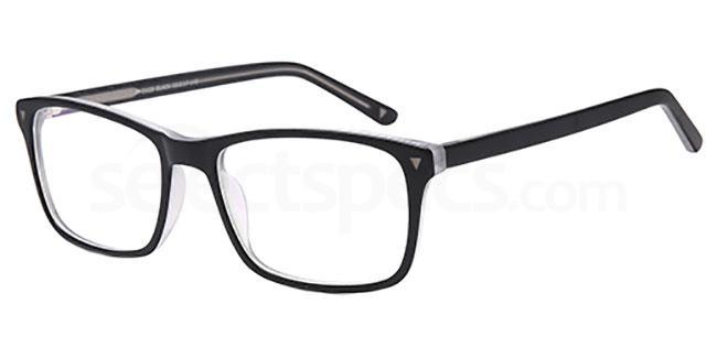 Black D123 Glasses, Brooklyn