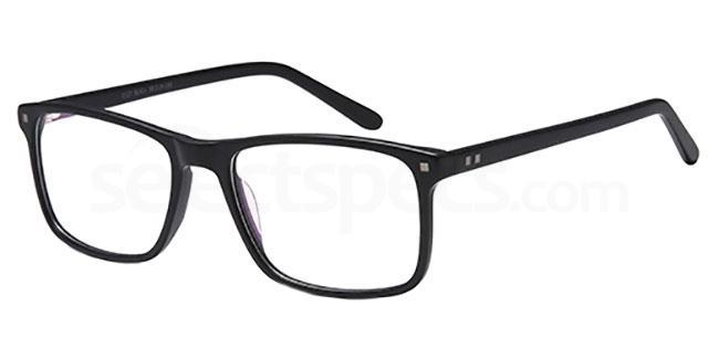 Black D127 Glasses, Brooklyn