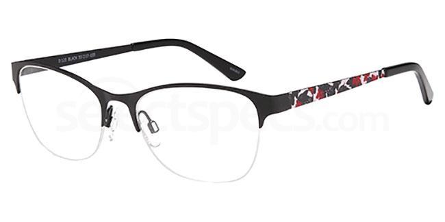 Black D129 Glasses, Brooklyn