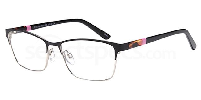 Black/Silver D130 Glasses, Brooklyn
