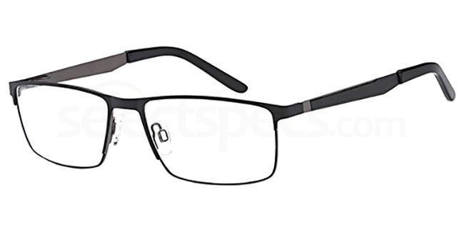 BLACK/GUN D132 Glasses, Brooklyn