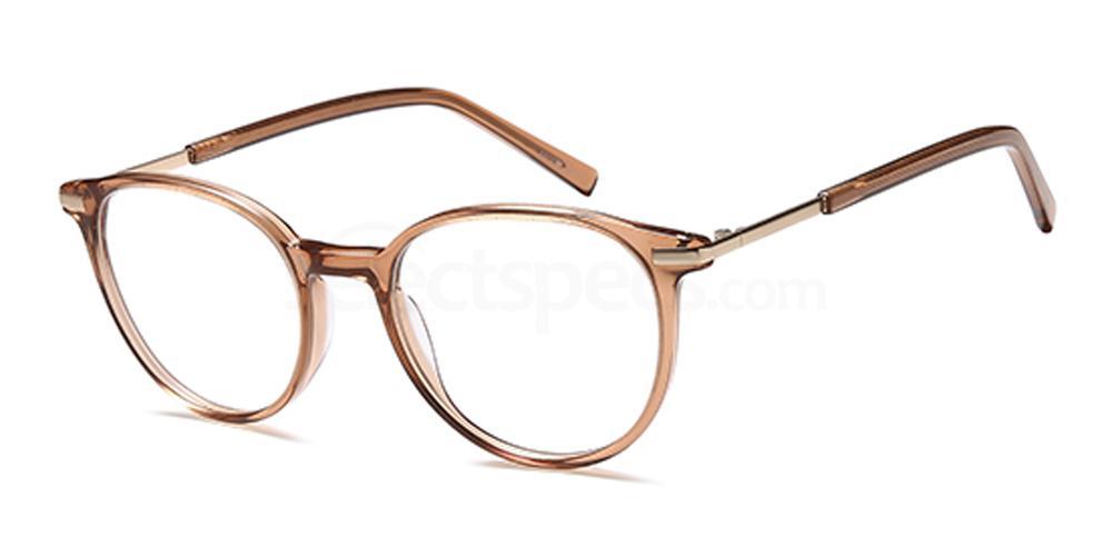 Brown Crystal D139 Glasses, Brooklyn