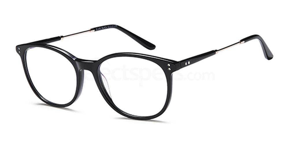 Black D145 Glasses, Brooklyn