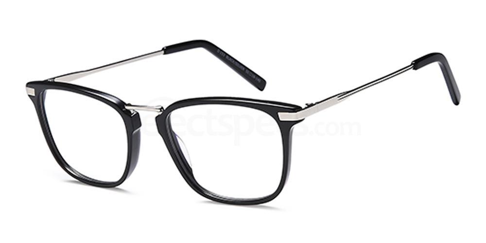 Black/Silver D153 Glasses, Brooklyn