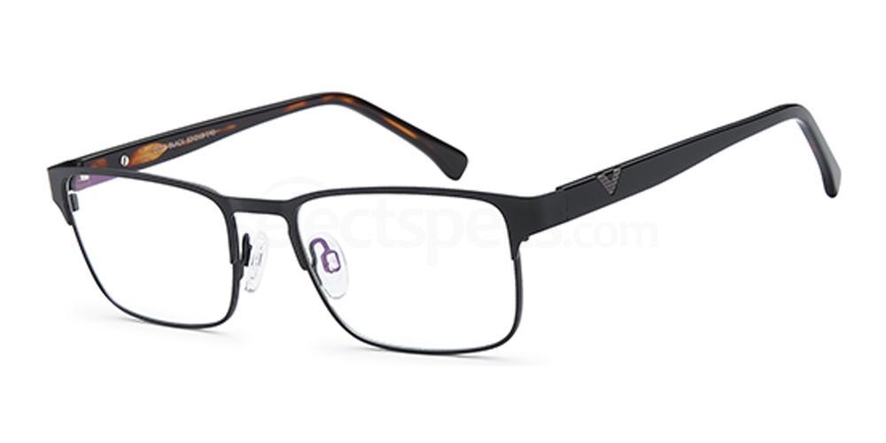 Black D157 Glasses, Brooklyn