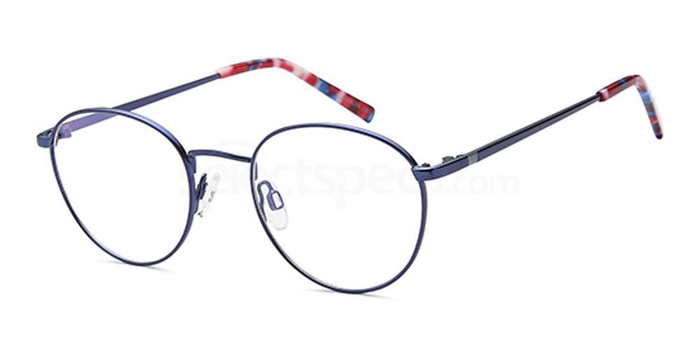 Blue D163 Glasses, Brooklyn