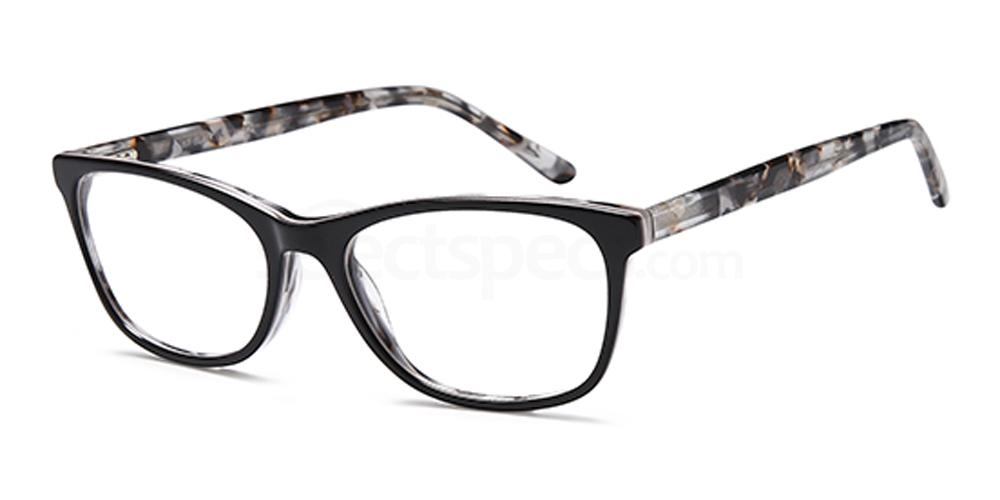 Black D167 Glasses, Brooklyn