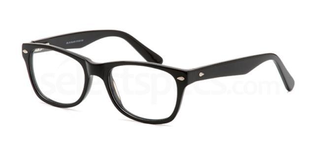 Black DEL58 Glasses, Delancy