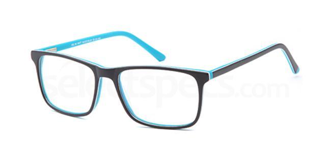 Matt Black/Blue DEL96 Glasses, Delancy
