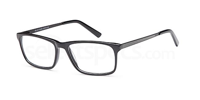 Black DEL107 Glasses, Delancy
