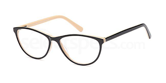 Black/Horn DEL109 Glasses, Delancy