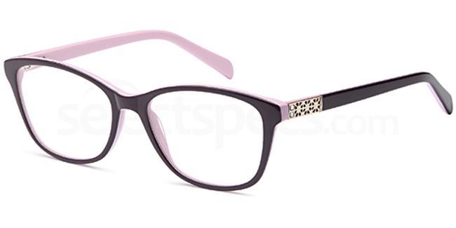 Purple DEL116 Glasses, Delancy