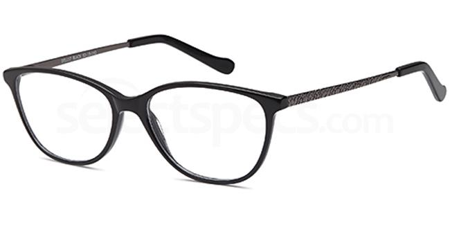 Black DEL117 Glasses, Delancy