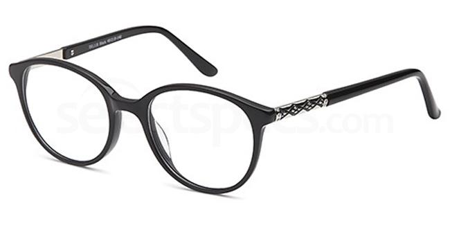 Black DEL118 Glasses, Delancy