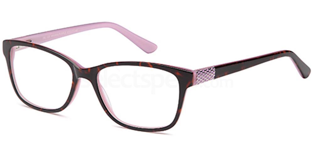 Havana/Purple DEL120 Glasses, Delancy