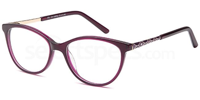 Purple DEL124 Glasses, Delancy