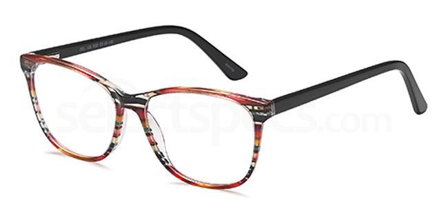 Red DEL136 Glasses, Delancy