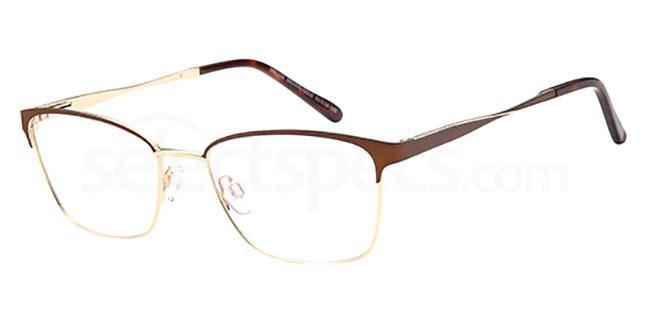 Brown/Gold DEL 156 Glasses, Delancy