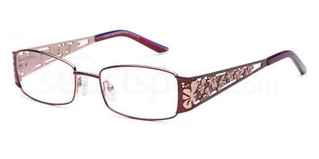 Burgundy/Pink FOS146 Glasses, Foschini