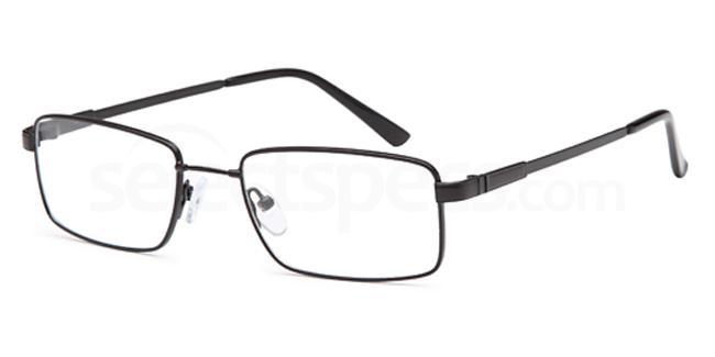 Black 6035 Glasses, Flexit