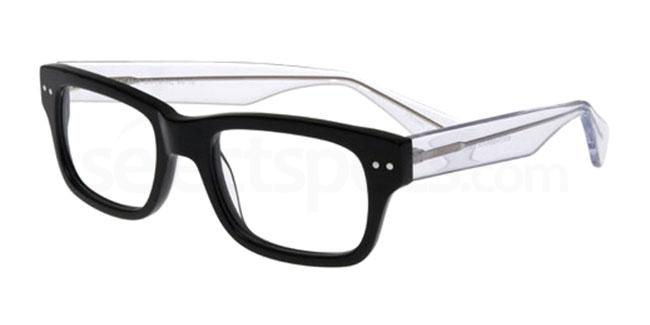 black and crystal po50 Glasses, Booth & Bruce Design