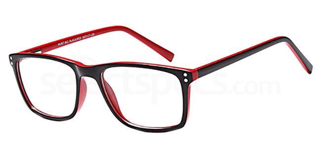 Black/Red MONT862 Glasses, MONTEREY TEENS