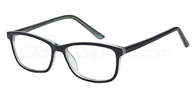 Black/Green MONT925 Glasses, MONTEREY TEENS