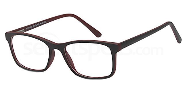 Black/Red MONT927 Glasses, MONTEREY TEENS