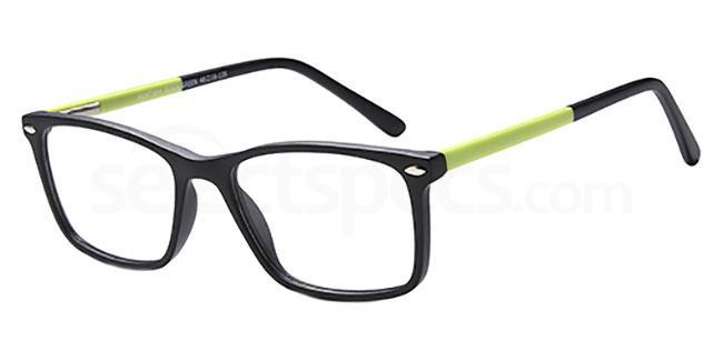 Black/Green MONT864 Glasses, MONTEREY TEENS