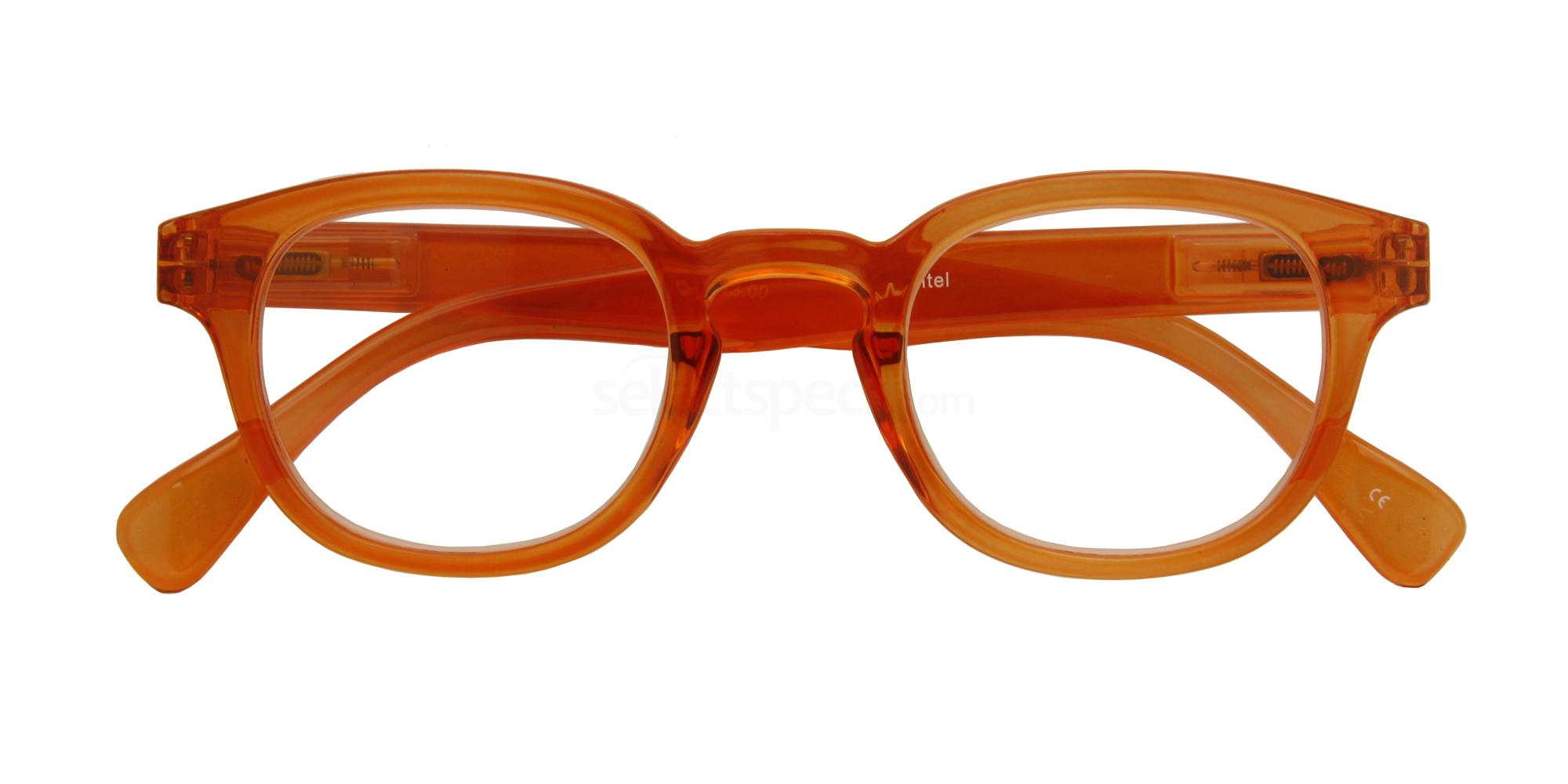 +1.00 Power Montel Orange Transparant Accessories, Croon