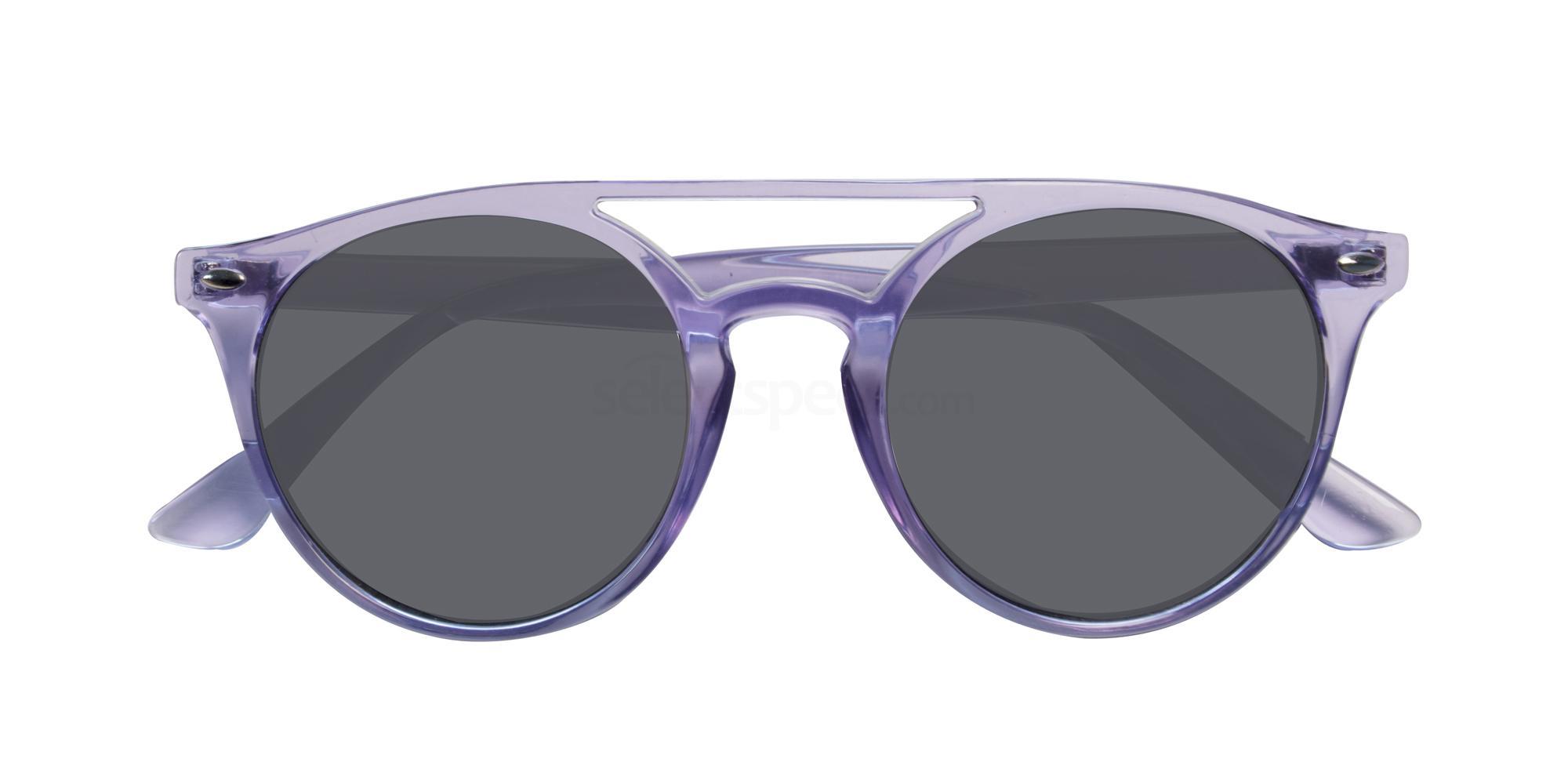 Purple Clear Bobby Sunglasses, Croon