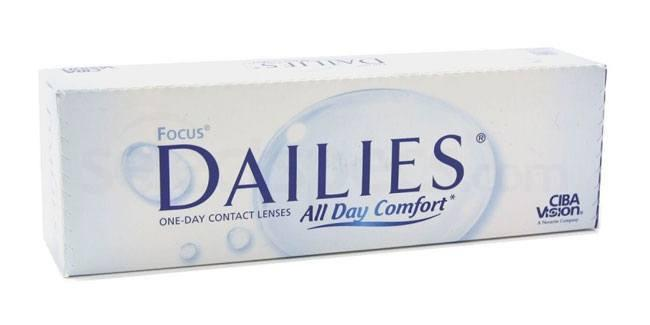 30 Lenses Focus Dailies All Day Comfort Lenses, Ciba Vision