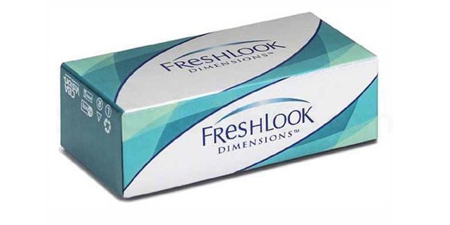 2 Lenses Freshlook Dimensions Zero Power Lenses, Ciba Vision