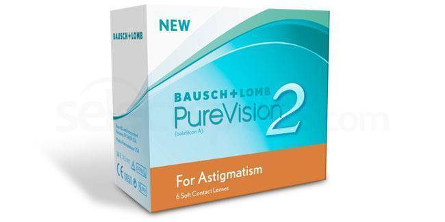 3 Lenses Pure Vision 2 HD for Astigmatism Lenses, Bausch & Lomb