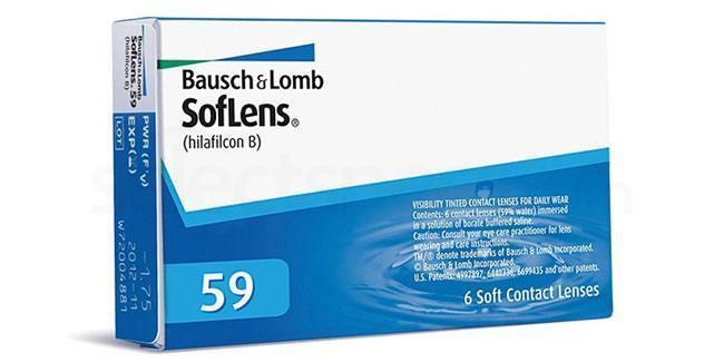 6 Lenses SofLens 59 Lenses, Bausch & Lomb