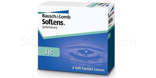 6 Lenses SofLens 38 Lenses, Bausch & Lomb