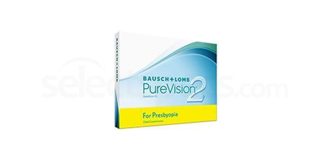 3 Lenses Pure Vision 2 HD for Presbyopia Lenses, Bausch & Lomb